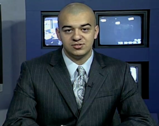 Anchoring a live cable broadcast during my senior year of high school.