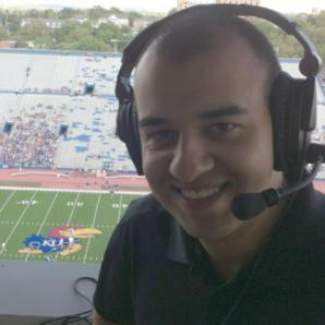 I called my first KU football game on Sept. 1, 2012 against South Dakota State.